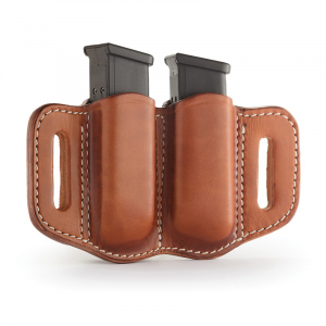 1791 Gunleather MAG2.1 Double Magazine Holster, Classic Brown - MAG21CBRA