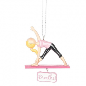 Breathe Girl Yoga Triangle Pose Ornament