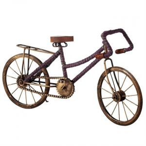 Bicycle With Green & Purple Stripe Jute Wrap