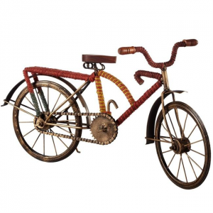 Bicycle With Red & Yellow Stripe Jute Wrap