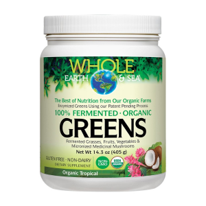 Image of Whole Earth & Sea Fermented Organic Greens - Tropical 14.3oz