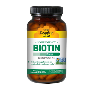 Image of Country Life High Potency Biotin 5mg 60 vcaps