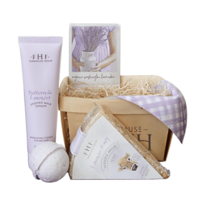 Image of Farmhouse Fresh Lavender Harvest Gift Basket