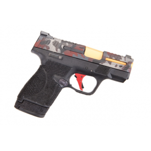 Wetwerks M&P Shield w/ Night Sights Pistol – Multicam Red Apex Red Flat Trigger
