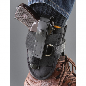 Blue Stone Safety D-Ring Lock Leather Ankle Holster Sub-Compact Pistols 9mm/.45 Caliber