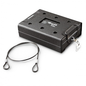 Bulldog Car/Personal Safe with Key Lock Mounting Bracket  &  Cable