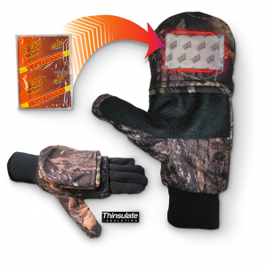 Mossy Oak Pop Top Mitts with Hand Warmer Pockets