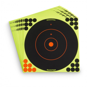 Birchwood Casey Reactive 12 inch Paper Shooting Targets 25 Pack