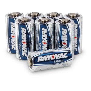 Rayovac CR123A Lithium Batteries 8 Pack