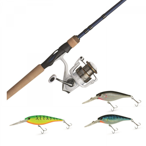 Abu Garcia Max Pro Spinning Combo with Berkley Flicker Shad Lure Pack