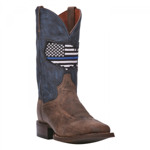Dan Post Men's Thin Blue Line Leather Western Boots