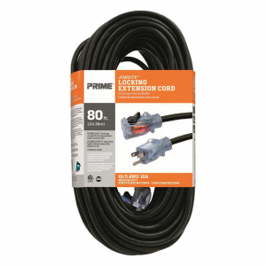 Prime Jobsite 16/3 Locking Lighted Outdoor Extension Cord