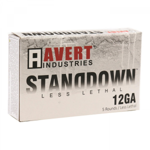 Avert Industries STANDDOWN Less Lethal 12 Gauge 2 3/4 inch Double Ball Shotshell 5 Rounds