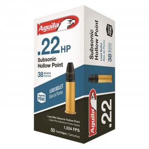 Aguila Subsonic .22LR HP 38 Grain 50 Rounds