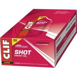 Clif Shot Gel: Strawberry with Caffeine 24-Pack