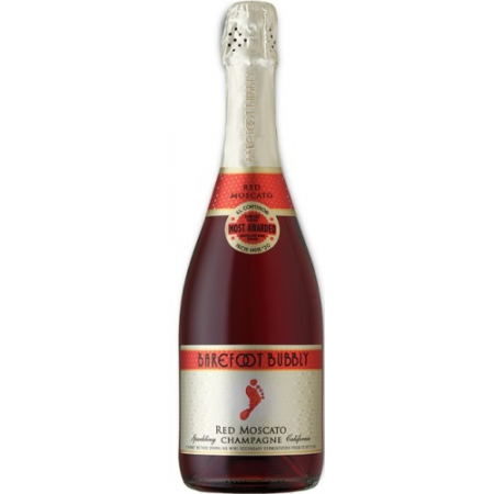 Barefoot Cellars Bubbly Red Moscato   750ml
