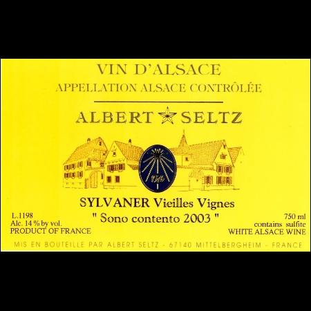 Albert Seltz Sylvaner Vieilles Vignes Sono Contento  2008 750ml