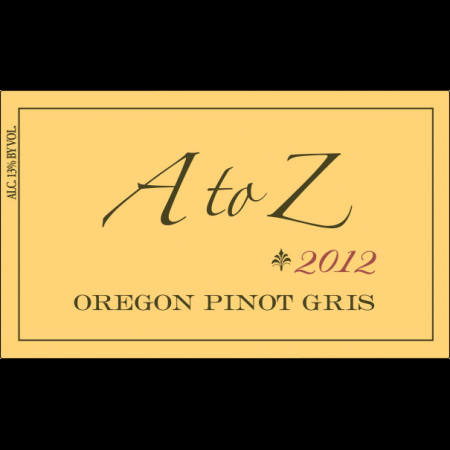 A To Z Wineworks Pinot Gris Oregon  2013 750ml