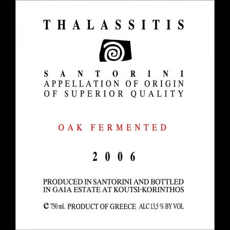 Gaia Estate Assyrtiko Thalassitis Oak Fermented  2013 750ml