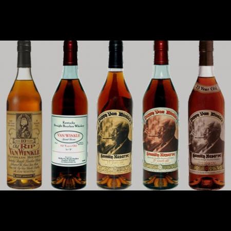 Pappy Van Winkle 5 Bottle Horizontal   750ml