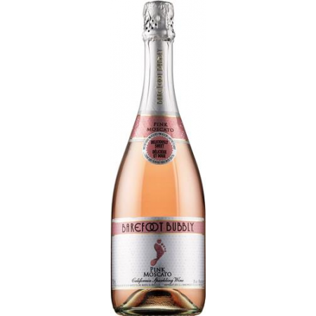 Barefoot Cellars Bubbly Pink Moscato   750ml