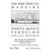Rare Wine Co. Porto Muniz Verdelho  NV 750ml