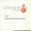 Gysler Scheurebe Halbtrocken  2013 1.0Ltr