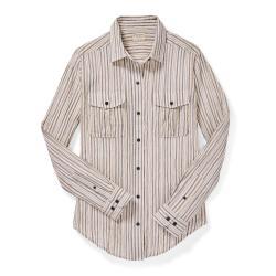 Filson Women's Kadin Island Shirt - Women's - XL - NatBluBr