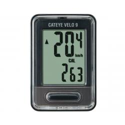 CatEye Velo 9 Bike Computer (Black) (Wired) - 1603300