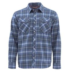 Simms Gallatin Flannel Long Sleeve Shirt - Men's - Rich Blue Plaid - S