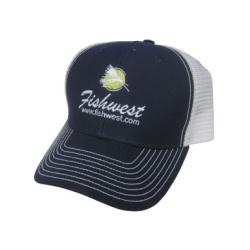 Fishwest Vintage Logo Hat - Navy and White - One Size