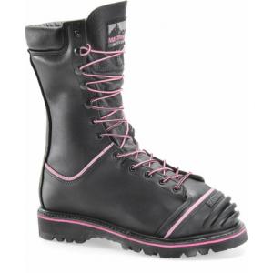 Matterhorn Women's 10″ Waterproof Insulated Internal Metguard Boot | Black | 10-Wide | Leather/Rubber | LAPoliceGear.com