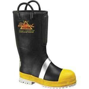 Thorogood Women's Rubber Insulated Felt Fire Boot with Lug Sole | Black | 10-Wide | Polyester/Rubber/Stainless Steel | LAPoliceGear.com