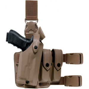 Safariland 6005 SLS Tactical Holster w/ Quick Release Leg Strap | Brown | LAPoliceGear.com