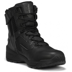 Tactical Research Men's Black 10-40 7″ Ultralight Tactical Side-Zip Boot | 16-Wide | Leather/Rubber | LAPoliceGear.com