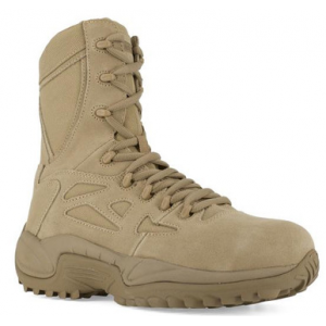 Reebok RB894 Women's Side Zip Desert Tactical Boots with Safety Toe | Desert Tan | 11-Wide | Leather | LAPoliceGear.com