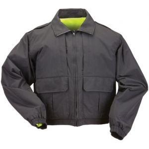 5.11 Tactical Men's Reversible Hi-Vis Duty Jacket 48095 | Black | Small | Polyester/Nylon | LAPoliceGear.com