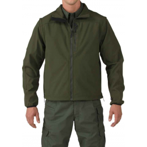 5.11 Tactical Men's Valiant Softshell Jacket 48167 | Storm | Small | Polyester | LAPoliceGear.com