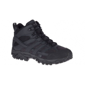 Merrell Men's Moab 2 Mid Black Tactical Boot | 4.5-Standard | Nylon/Leather/Rubber | LAPoliceGear.com