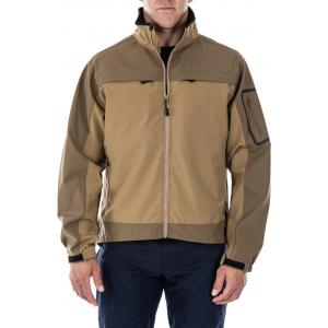 5.11 Tactical Men's Chameleon Softshell Jacket 48099 | Flat Dark Earth | X-Small | Polyester | LAPoliceGear.com