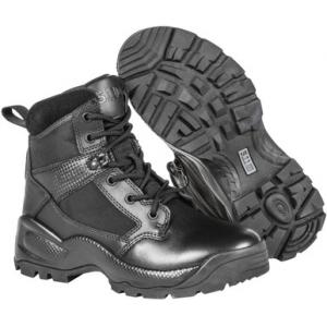 5.11 Tactical Women's A.T.A.C. 2.0 6″ Side Zip Black Boot 12404 | 9.5-Standard | Nylon/Leather | LAPoliceGear.com