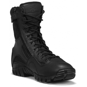 Tactical Research Men's Black Class-A 6″ Hot Weather High Shine Side-Zip Tactical Boot | 5.5-Standard | Nylon/Leather/Rubber | LAPoliceGear.com