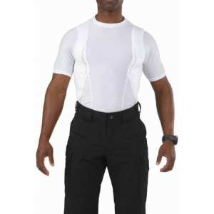 5.11 Tactical Men's Short Sleeve Holster Shirt 40011 | White | Small | Spandex | LAPoliceGear.com
