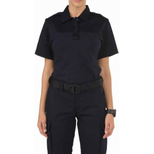5.11 Tactical Women's Rapid PDU Short Sleeve Shirt 61304 | Silver Tan | Small | Cotton/Polyester/Spandex | LAPoliceGear.com