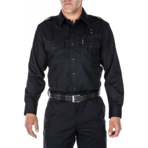 5.11 Tactical Men's Twill PDU Class A Long Sleeve Shirt 72344 | White | 2X-Large | Cotton/Polyester | LAPoliceGear.com