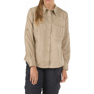 5.11 Tactical Women's Taclite Pro Long Sleeve Shirt 62070 | Khaki | X-Large | Cotton/Polyester | LAPoliceGear.com