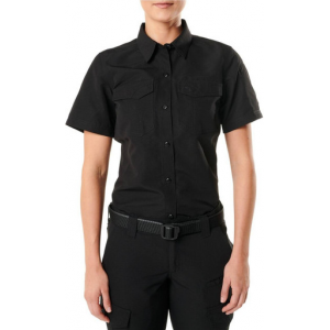 5.11 Tactical Women's Fast-Tac Short Sleeve Shirt 61314 | Khaki | Small | Polyester | LAPoliceGear.com