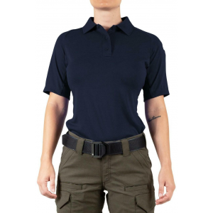 First Tactical Women's Performance Short Sleeve Polo | White | X-Small | Polyester | LAPoliceGear.com