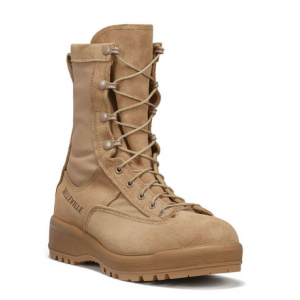 Belleville Women's Waterproof Flight & Combat Boot – Tan | 10-Wide | Nylon/Leather/Rubber | LAPoliceGear.com