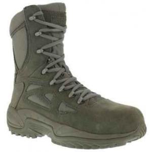 Reebok RB899 Sage Green Women's 8″ Side Zip ST Rapid Response Boot   12-Wide   Nylon/Leather   LAPoliceGear.com